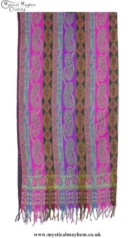Paisley Patterned Soft Feel Acrylic Wool Blanket Multicoloured