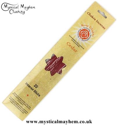 Root Chakra Cedar Incense Sticks