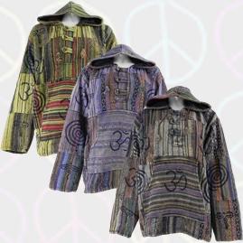 Gheri Cotton Fleece Lined Patchwork Jackets