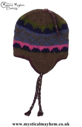 Handmade Hippy Nepalese Wool Over Ear Hat