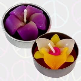 Sculpted Flower Tea Lights