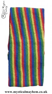Standard Stretchy Knitted Cotton Hippy Head band Rainbow Multicoloured