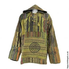 Yellow-Gheri-Cotton-Patchwork-Hoody