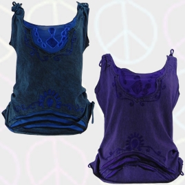 Embroidery Adjustable Vest Tops