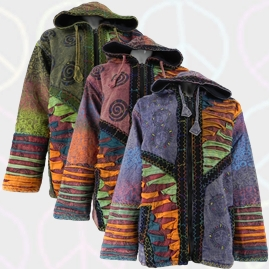 Gringo Fleece Lined Cotton Jackets with Felt Trim