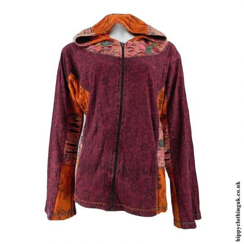 Burgundy-Pixie-Hooded-Jacket-Back