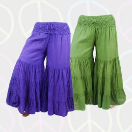 Crochet Cotton Baggy Flares