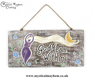 'Goddess Within' Handmade Wooden Plaque