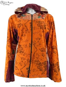 Hippy Festival Cotton Pixie Hooded Embroidery Jacket