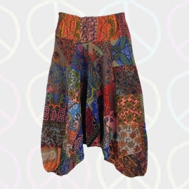 Patchwork Harem Ali Baba Trousers