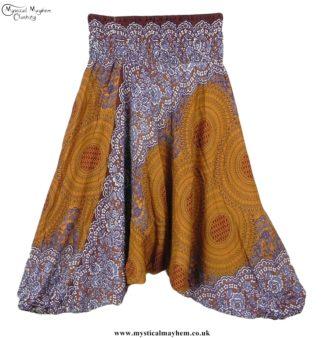 Beige Pattern Harem Ali Baba Hippy Trousers 1