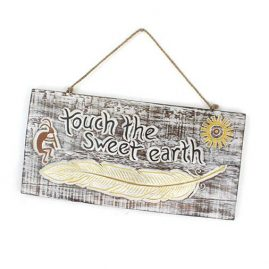 'Touch-the-Sweet-Earth'-Handmade-Wooden-Plaque