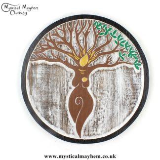 Tree Goddess Handmade Wooden Plaque