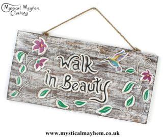 'Walk in Beauty' Handmade Wooden Plaque