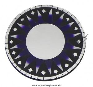 Fair Trade Purple Sun Round Handmade Mosaic Mirror 20cm