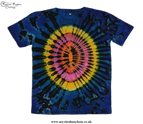 Funky Multicoloured Hippy Boho Tie Dye T Shirt