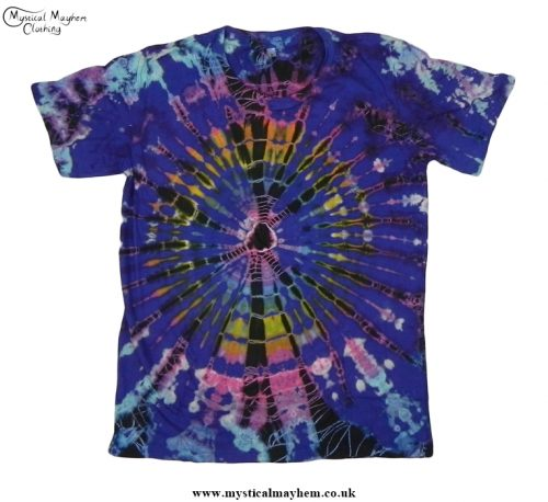 Funky Multicoloured Hippy Boho Tie Dye T Shirt