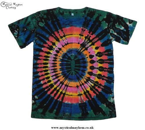 Funky Multicoloured Hippy Tie Dye T Shirt