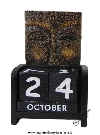 Handmade Wooden Calendar Buddha Eyes