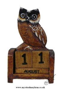 Handmade Wooden Calendar Owl