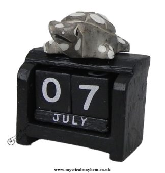 Handmade Wooden Calendar Small Turtle