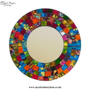 Hippy-Fair-Trade-Multicoloured-Round-Handmade-Mosaic-Mirror-20cm