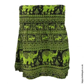 Bright-Green-Elephant-Mini-Skirt