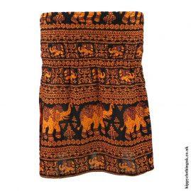 Bright-Orange-Elephant-Mini-Skirt