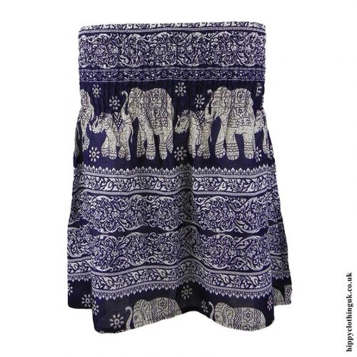 Dark-Blue-Elephant-Mini-Skirt