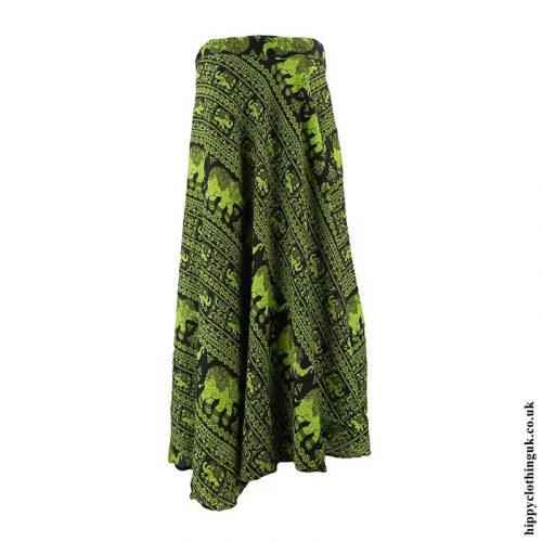 Green-Elephant-Wrap-Skirt