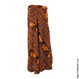 Orange-Elephant-Wrap-Skirt