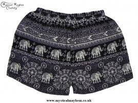Thai Ladies Hippy Rayon Shorts Black