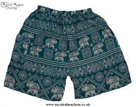 Thai Male Hippy Rayon Long Shorts Green
