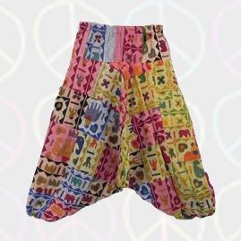 Elephant Patchwork Harem Ali Baba Trousers