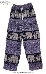 Hippy Thai Elephant Trousers Dark Blue