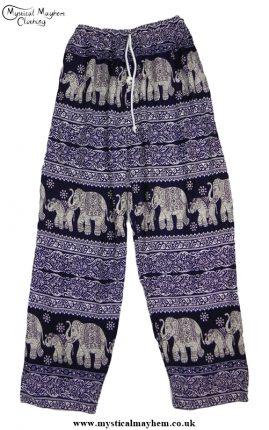 Hippy Thai Elephant Trousers Dark Blue