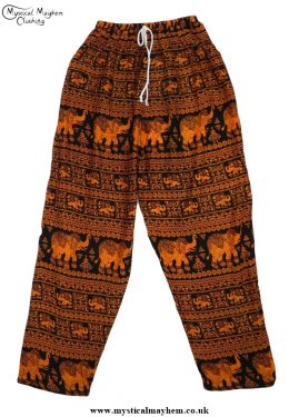 Hippy Thai Elephant Trousers Orange