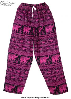 Hippy Thai Elephant Trousers Pink