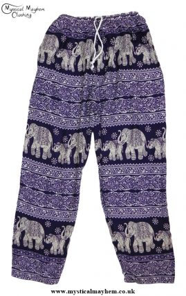 Hippy Thai Elephant Trousers Purple
