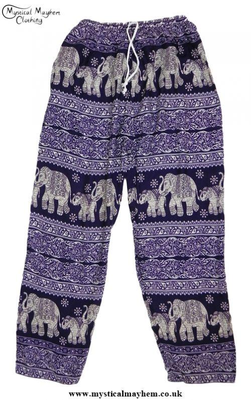 Hippy Thai Elephant Trousers Purple