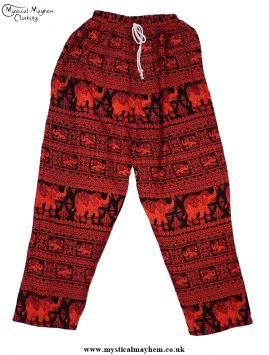 Hippy Thai Elephant Trousers Red