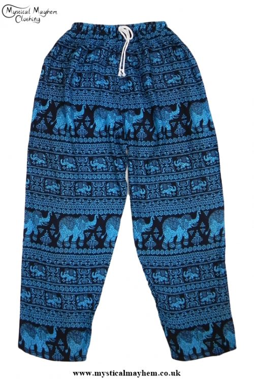 Hippy Thai Elephant Trousers Turquoise