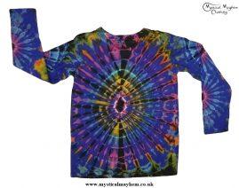 Long Sleeve Tie Dye T-Shirt Hippy Festival Top
