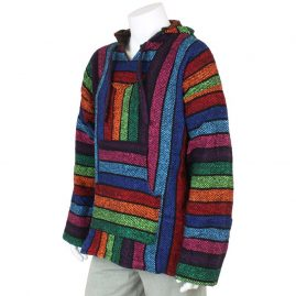 Multicoloured-Mexican-Jerga-Baja-Hooded-Hippy-Top