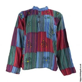 Multicoloured-Patchwork-Hippy-Shirt