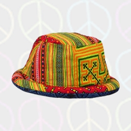 Bright Patchwork Cotton Rim Hats