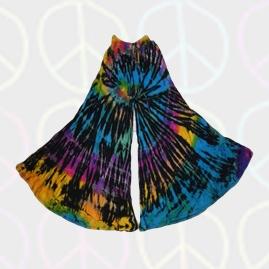Tie Dye Bell Bottom Flares