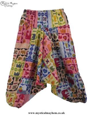 Elephant Patchwork Multicoloured Harem Ali Baba Trousers
