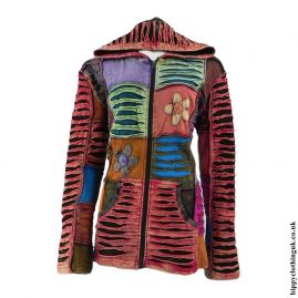 Multicoloured-Patchwork-Embroidered-Hooded-Jacket