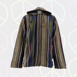 Thick Heavy Cotton Hooded Hippy Jacket